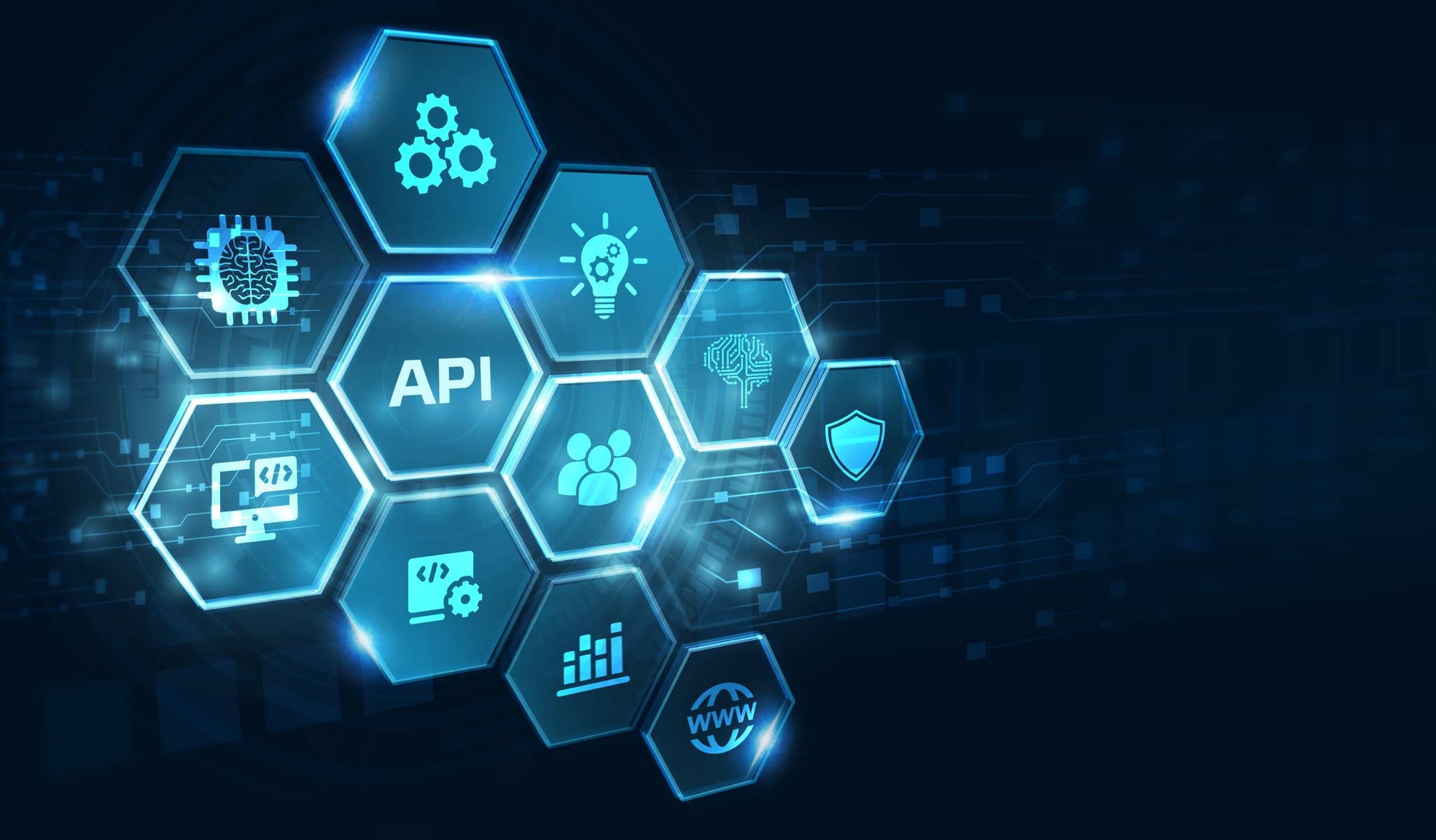Api Application Programming Interface. Software Development Tool. Business, Modern Technology, Internet And Networking Concept.